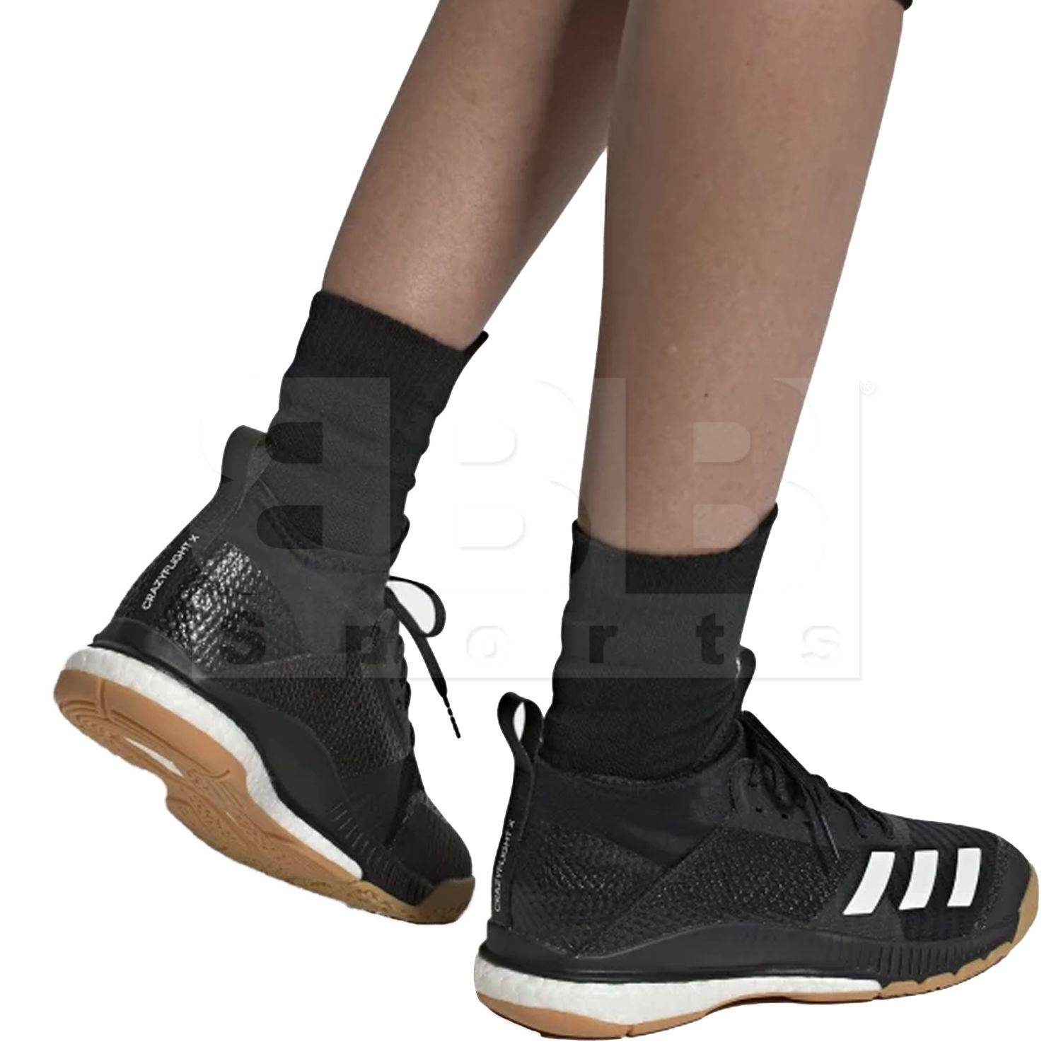 Adidas Crazyflight X 3 Mid Women's Shoes Black/Cloud White/Gum