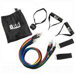 RTBS01 BBB Sports Set de Bandas de Tubo Resistente de 100 lb Combinadas con Mangos, Ancla de Puerta y Correas de Tobillo (11 Piezas)