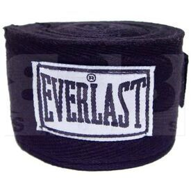 4455BK Everlast Boxing Hand Wraps Black 120""