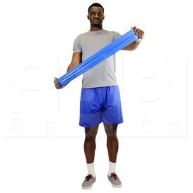 105244 CanDo Low Powder Resistive Exercise Band Blue Heavy 48""