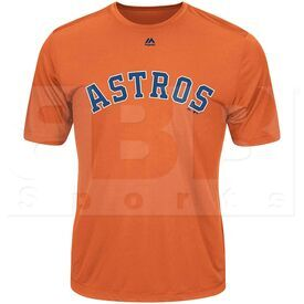 G223-3253-HUS-TLJ Majestic MLB Astros Adult Evolution Tee Shirt