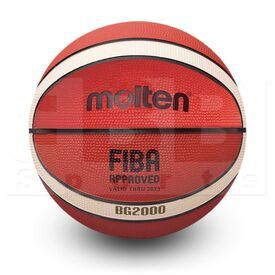 "G20-6 Molten B6G2000 Indoor/Outdoor Rubber Basketball FIBA Approved Size 6 (28.5"")"