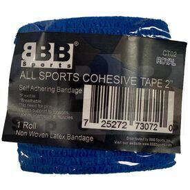 "CT02 BBB Sports Athletic Cohesive Wrap Tape 2"" Inch Royal"