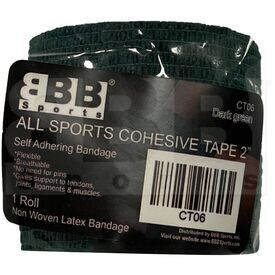 "CT06 BBB Sports Athletic Cohesive Wrap Tape 2"" Inch Dark Green"
