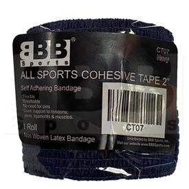 """CT07 BBB Sports Athletic Cohesive Wrap Tape 2"""" Inch Navy"""