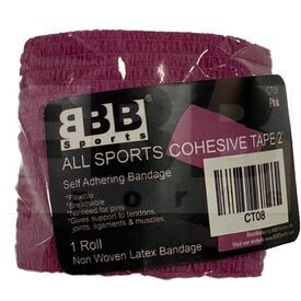 "CT08 BBB Sports Athletic Cohesive Wrap Tape 2"" Inch Pink"