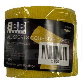 "CT09 BBB Sports Athletic Cohesive Wrap Tape 2"" Inch Yellow"