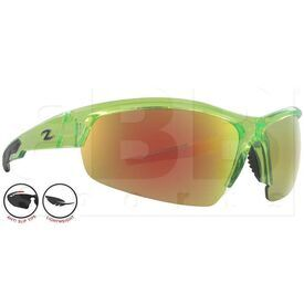 ZZ-EY-UV-TOUR-GRN-RD Zol Tour Sunglasses Green w/ Red Lens