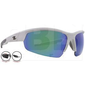 ZZ-EY-UV-TOUR-WH-GRN Zol Tour Sunglasses White w/ Green Lens