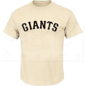 1922-SFG-SN-L Majestic Camiseta MLB Crewneck San Francisco Giants para Adultos Crema
