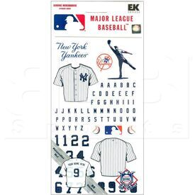 607 Major Baseball League New York Yankees Scrapbook Stickers