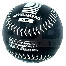 CBB712 Champro Sports Weighted Training Baseball Black 12 oz