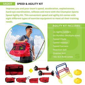 SAGKIT Champion Sports Speed Agility Kit Bunddle