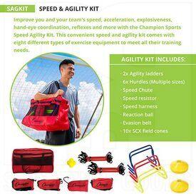 SAGKIT Champion Sports Combo de Entrenamiento, Velocidad y Agilidad
