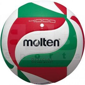 V4M4000 Molten Official 4000 FIVB & FPV Polyurethane Leather Volleyball Ball Size 4