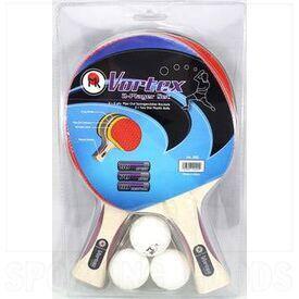 202 MK Vortex Ping Pong Racket Set for 2 Players 3 Balls