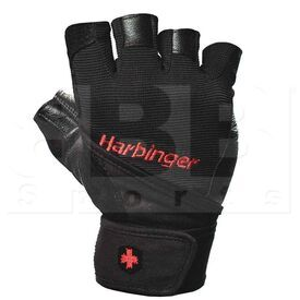 1140 Harbinger Pro Wristwrap Weightlifting Gloves Black
