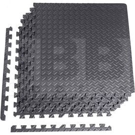 MT-1206ET CAP Barbell 6-pcs Heavy Duty Foam Tile Flooring w/Tire Thread Design