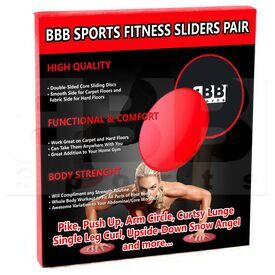 BFS01 BBB Sports Fitness Sliders Exercise Glider Discs (Pair)