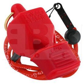 9603-0108 Fox 40 Whistle Classic CMG w/ Lanyard Red