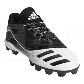 G28293-6Y Adidas Icon V Mid Kids Cleats Black w/ White