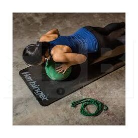 FEM Harbinger Ribbed Anti-Microbial Durafoam Exercise Mat 3/8-Inch Black
