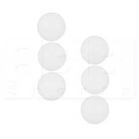 TB1037-6PCS VKM Three Star White Ping Pong Table Tennis Balls - Pack of 6pcs