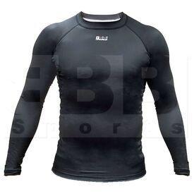 BCLSBKMD BBB Sports Men's Compression Training Long Sleeve Shirt Black