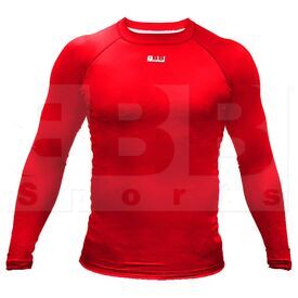 BCLSRD3XL BBB Sports Men's Compression Training Long Sleeve Shirt Black