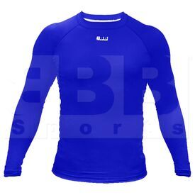 BCLSRY3XL BBB Sports Men's Compression Training Long Sleeve Shirt Royal