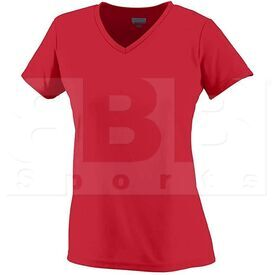 1791.040.S Augusta Girls Wicking Microfiber T-Shirt w/ V-Neck Red