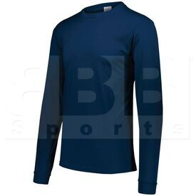 788.065.2XL Augusta Adult Wicking Microfiber Long Sleeve Shirt Navy