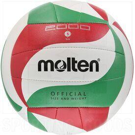 V5M2000 Molten Bola de Entrenamiento de Voleibol 2000 Blanco/Verde/Rojo Talla 5