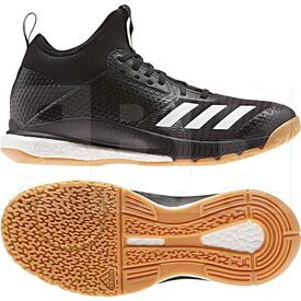 D97823-9.5 Adidas Crazyflight X 3 Mid Volleyball Shoes Black/White