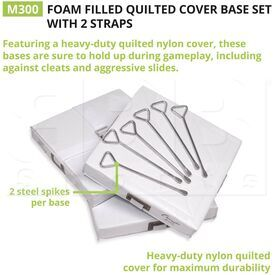 """M150 Champion B010 Foam Filled Quilted Cover 15"""" X 15"""" X 3"""" Baseball Base Set"""