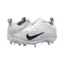 852696-102-7 Nike Vapor Ultrafly Pro Low Metal Baseball Cleats White/Black/Wolf Grey
