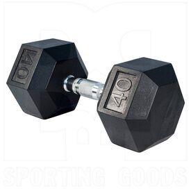 IR92022-40LB Tamanaco Rubber Hexagonal Dumbell 40 LBS (Single)