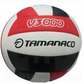 V3000-WBS Tamanaco V3000 Balón de Voleibol Tamaño 5 Blanco/Negro/Rojo