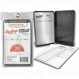 17LCR Rawlings Tarjetas de Alineación con Estuche Softbol / Béisbol 30