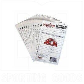 17LU Rawlings Tarjetas de Alineación Béisbol / Softbol 17
