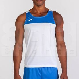 101033.207.M Joma Sleeveless Race Singlet White/Royal