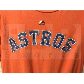G223-3253-HUS-TLJ-S Majestic MLB Houston Astros Evolution Tee Shirt