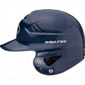 "RCFH-NA Rawlings Coolflo Molded Baseball Batting Helmet 6 ½"" – 7 ½"" Navy"