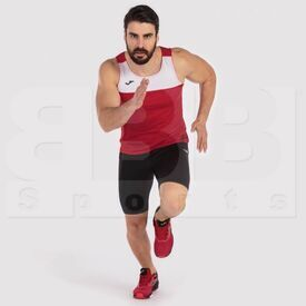 101033.602.M Joma Sleeveless Race Singlet White/Red