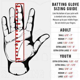 21008F4 Franklin Sports MLB Digitek Baseball Batting Gloves Red/Grey/Black