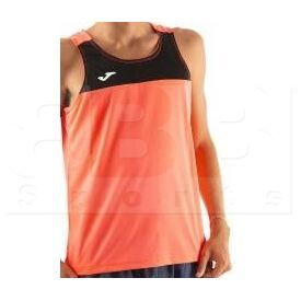 101033.041.L Joma Sleeveless Race Singlet Coral/Black
