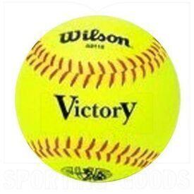 "A9115 Wilson Victory Softball Practice Ball 12"" Yellow PVC w/ Red Stitch 9oz Dozen"