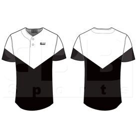 BSS2BBJ BBB Sports Sublimated 2-Button Baseball Jersey