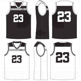 BSSRVCJ BBB Sports Sublimated Reversible V-Neck Court Jersey
