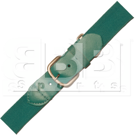 BBBTL VKM Adult Elastic Baseball Belt With Leather Teal